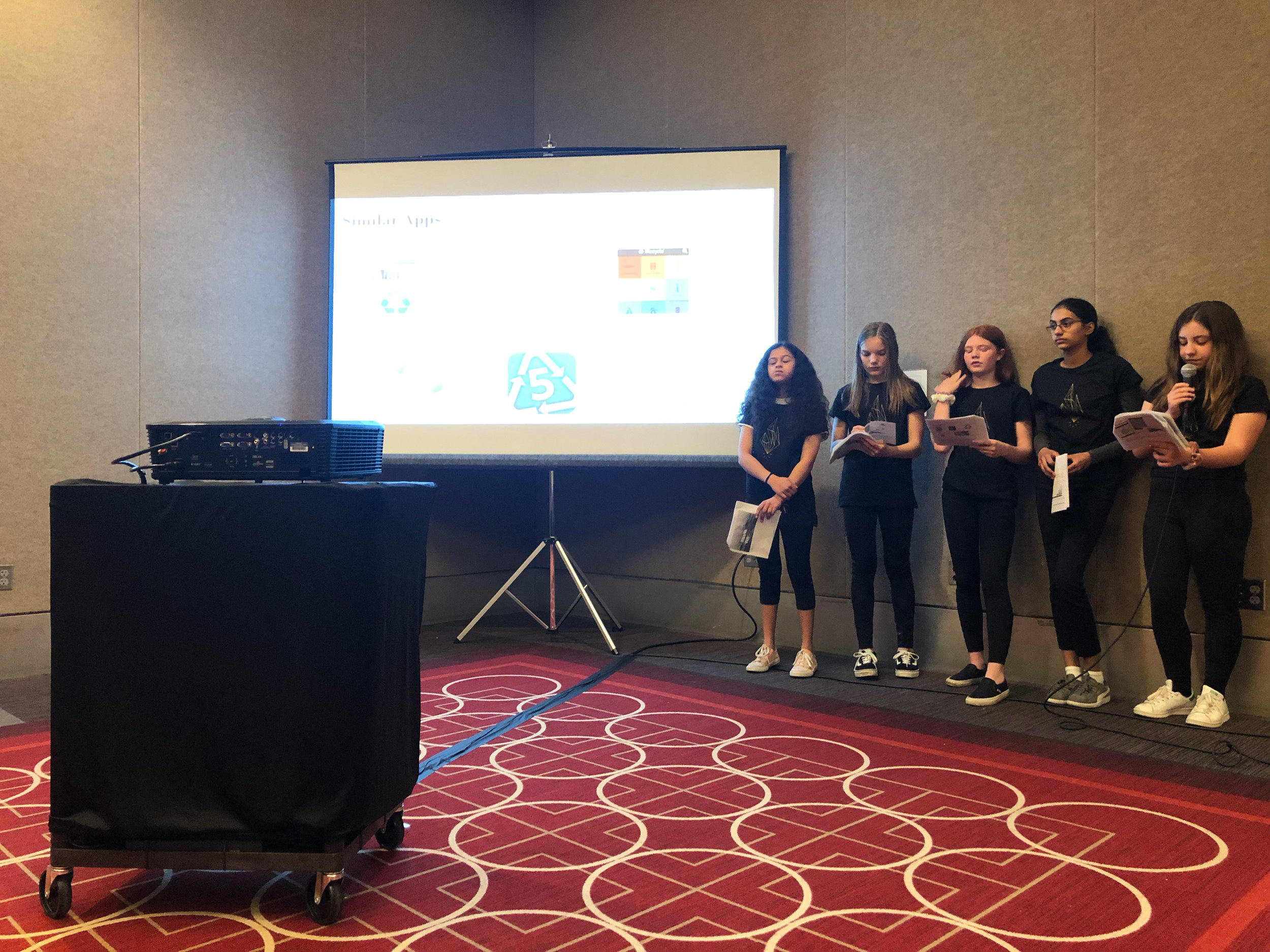 Technovation 2019 Junior Division Team Earth Savers
