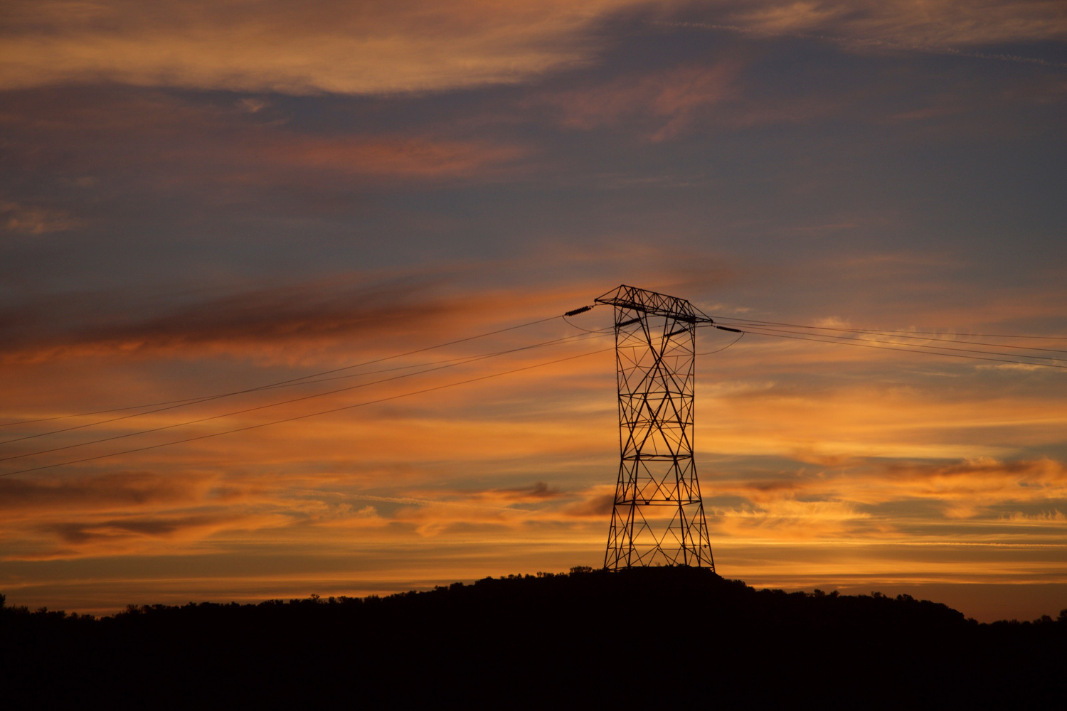 Eastern Washington transmission lines