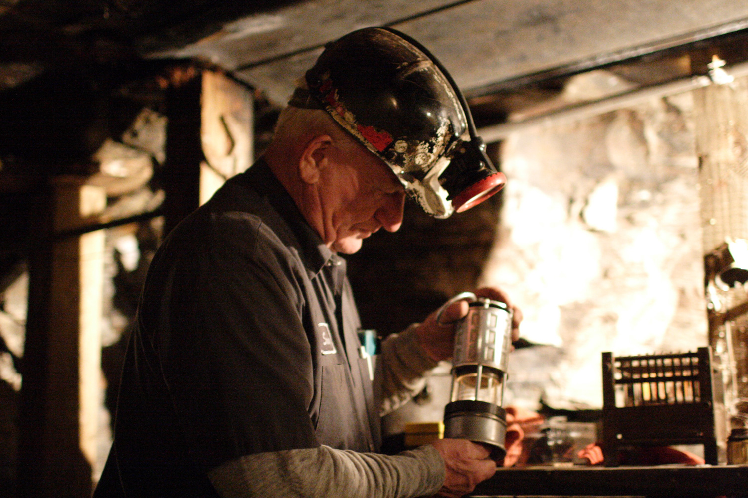 Sonny in the mine.
