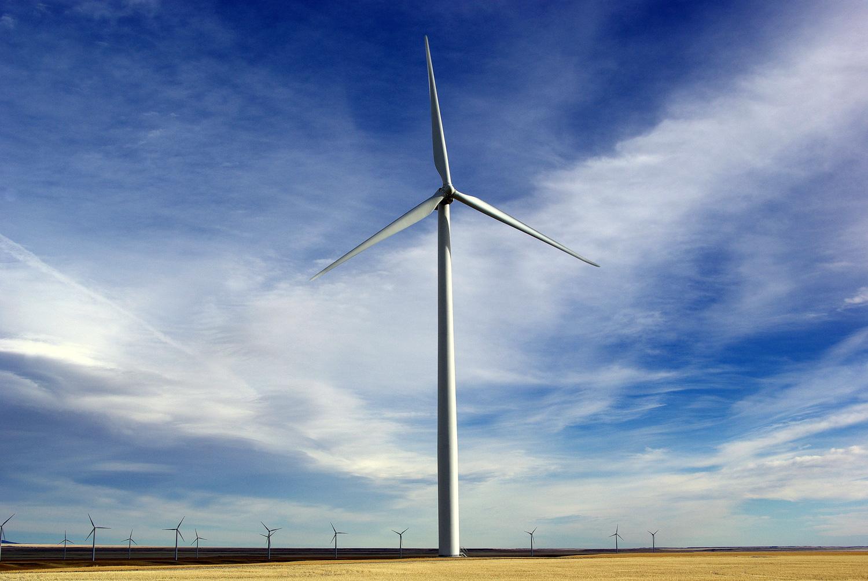 Judith Gap Wind Farm in Central Montana
