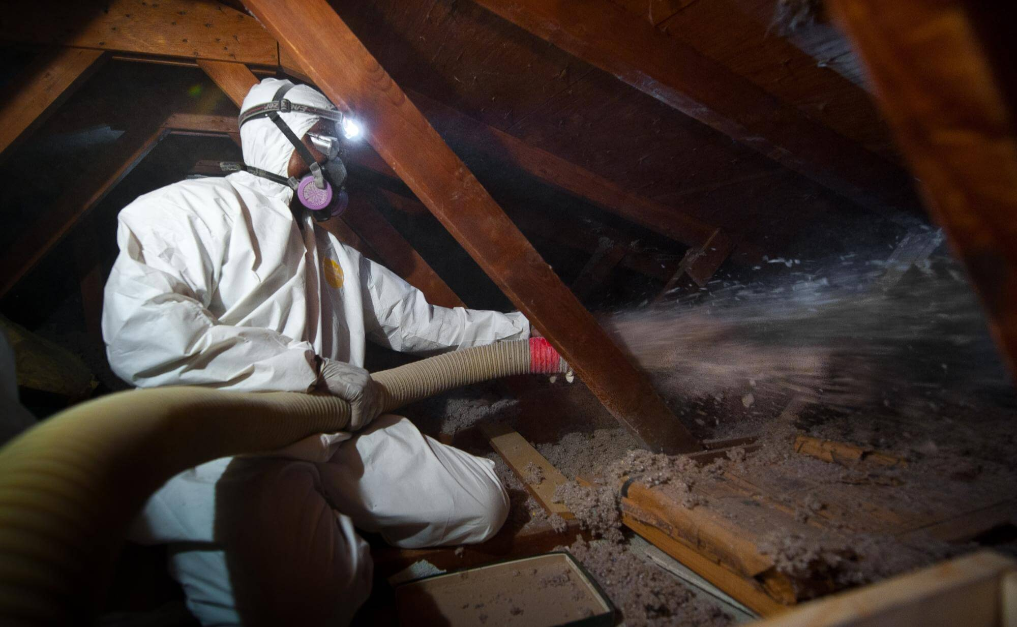Attic insulation with Weather Assistance Program