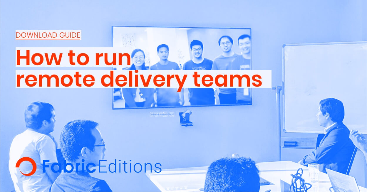 How to run remote delivery teams
