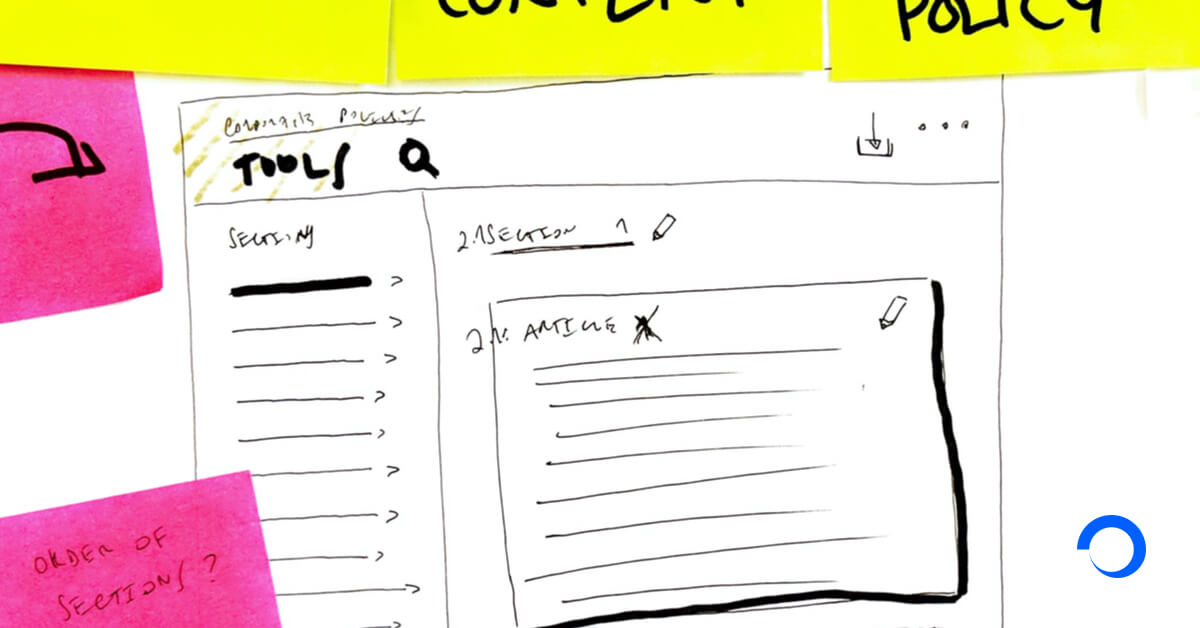 Annotated User Experience sketches