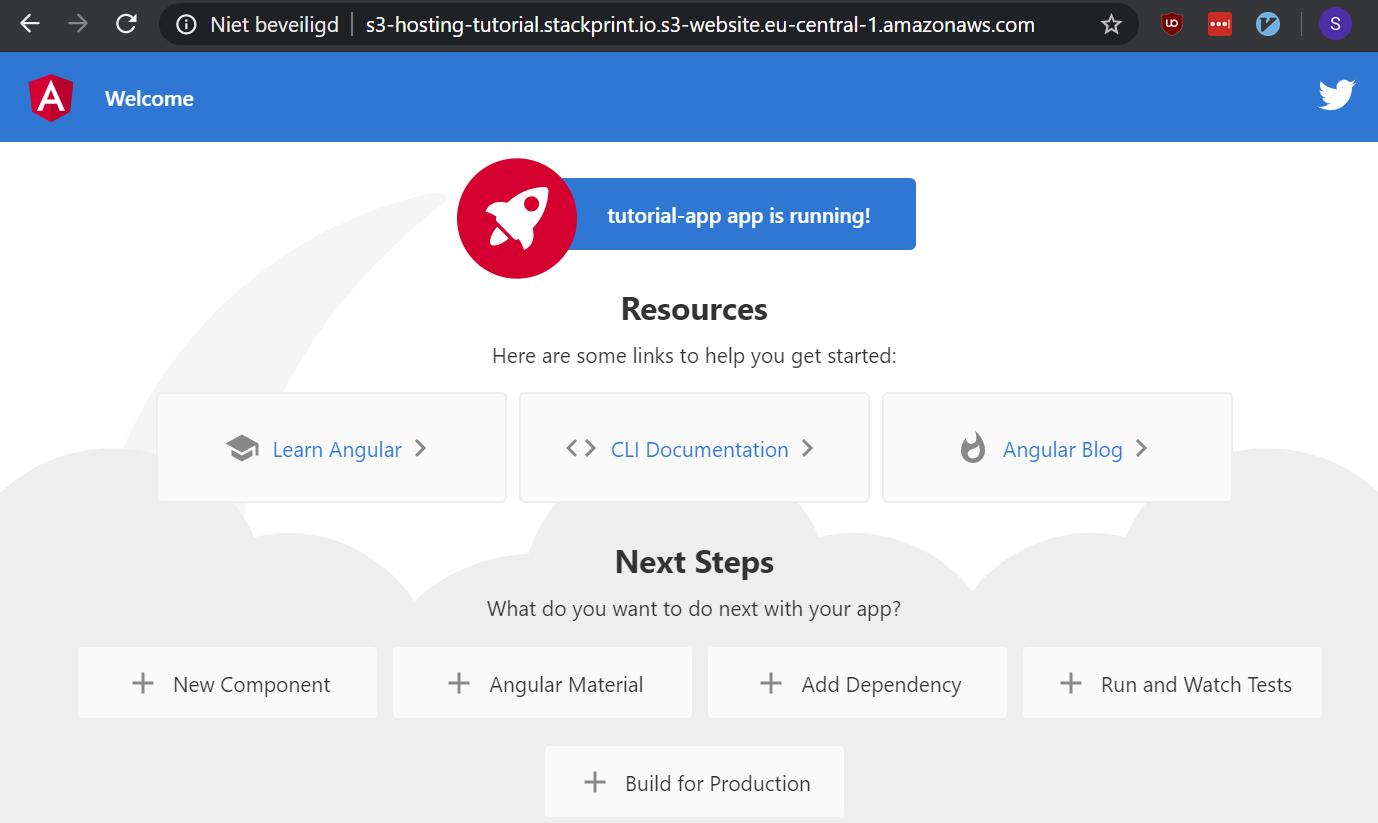 AWS: Deploy an Angular App