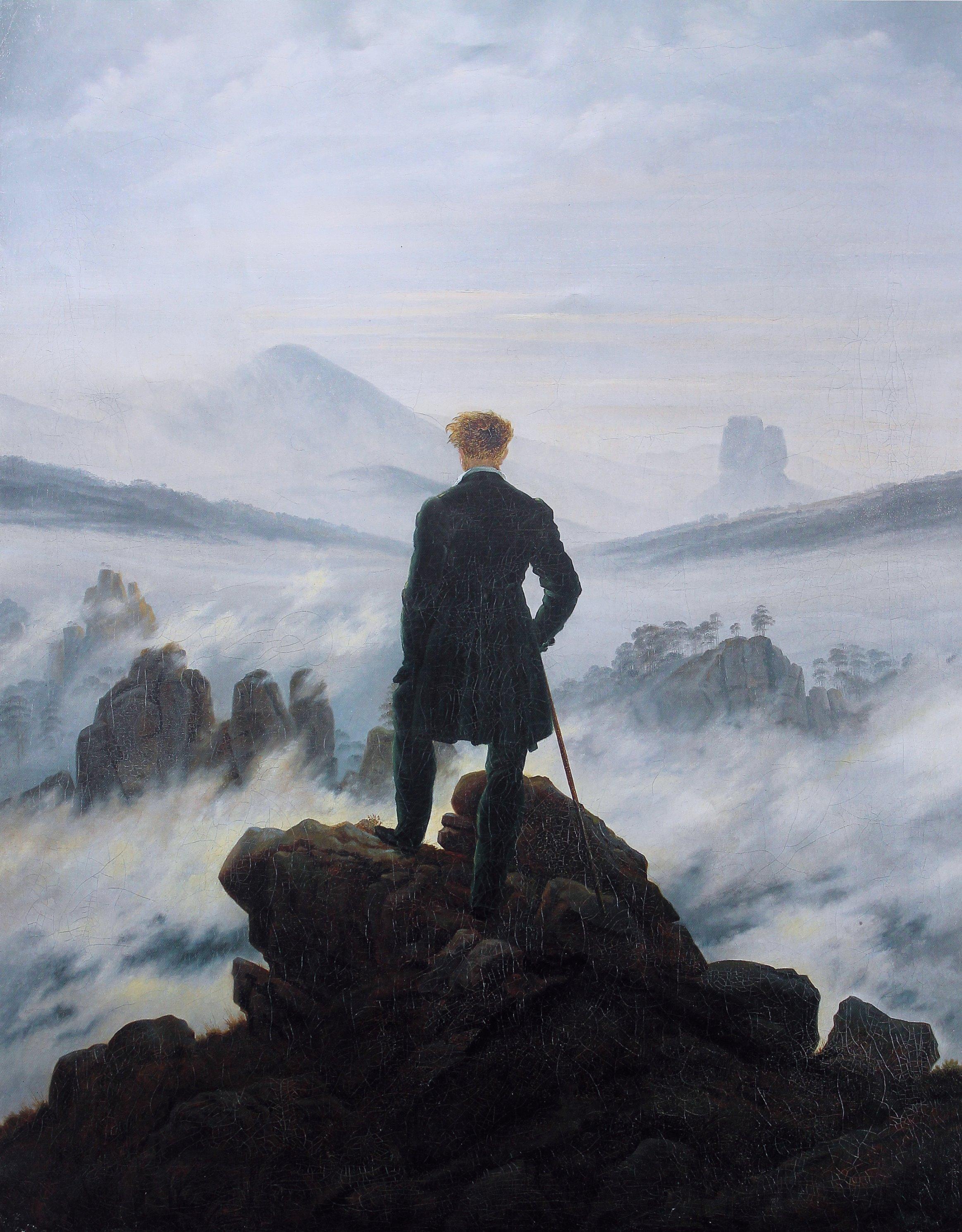 Caspar David Friedrich - der Wanderer im Nebelmeer.