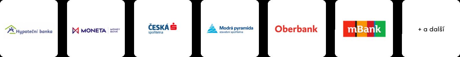 Loga českých bank –Hypoteční banka, Moneta Money Bank, Česká spořitelna a další