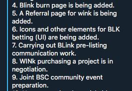 BLINk pre-listing communication work