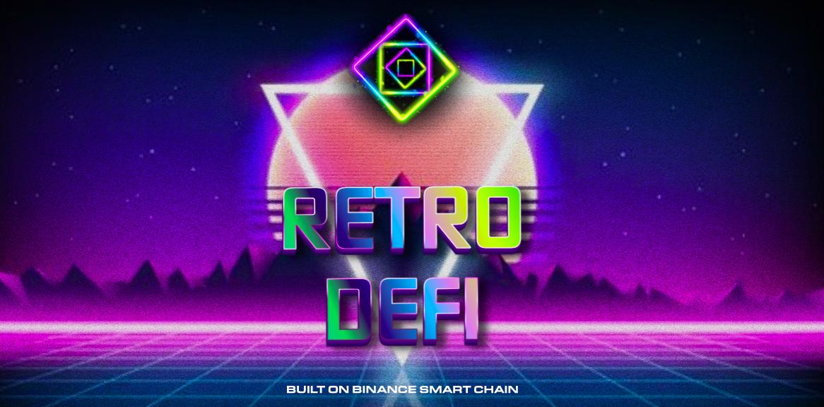 Retro DeFi landing page
