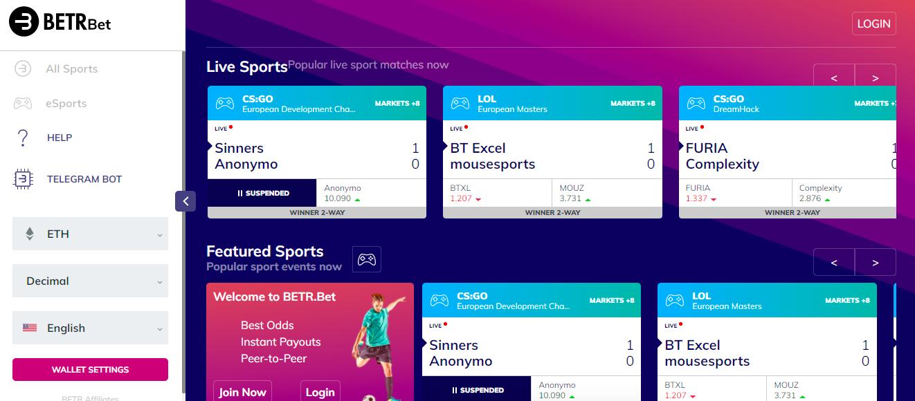 BETR peer-to-peer betting platform