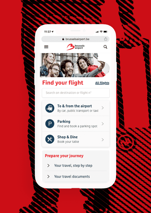 A redefined digital customer journey for Brussels Airport