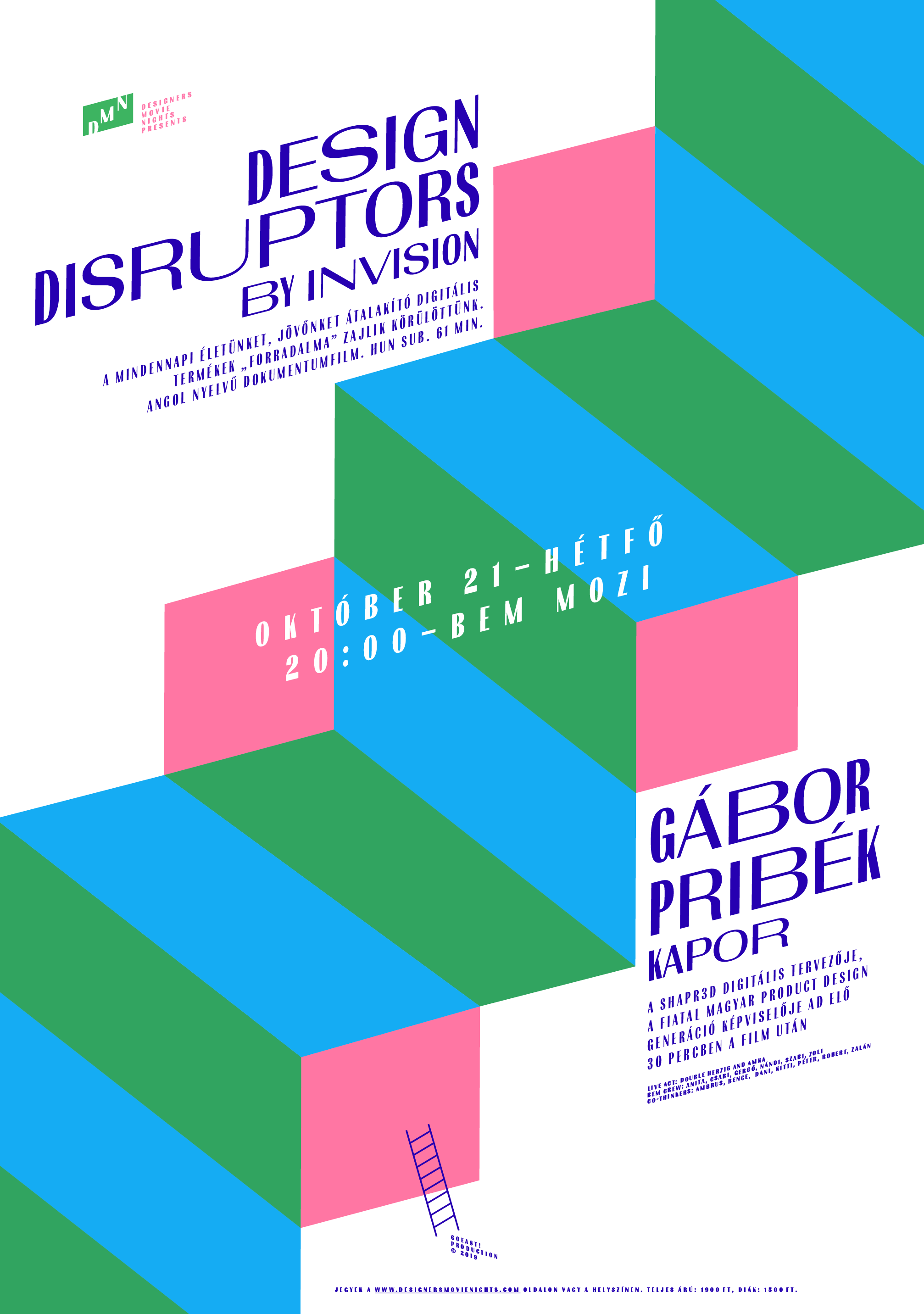 DMN: Design Disruptors by InVision and Gábor Pribék from Shapr3D at 21th. Oct