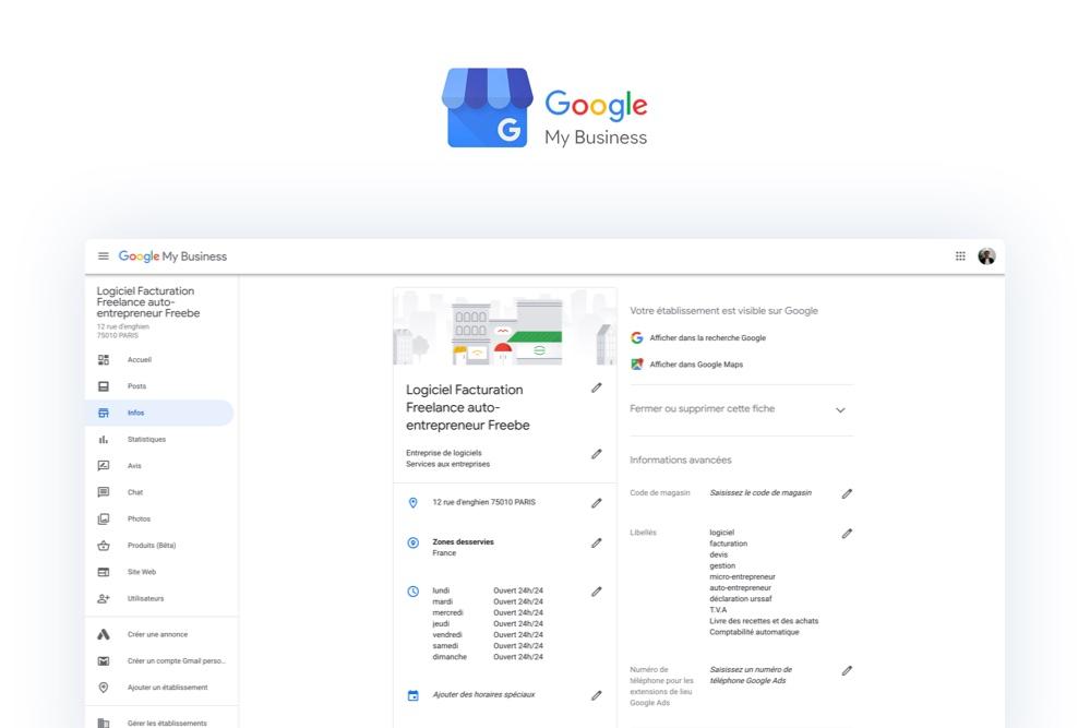 Google My Business :  le référencement local de ta micro-entreprise