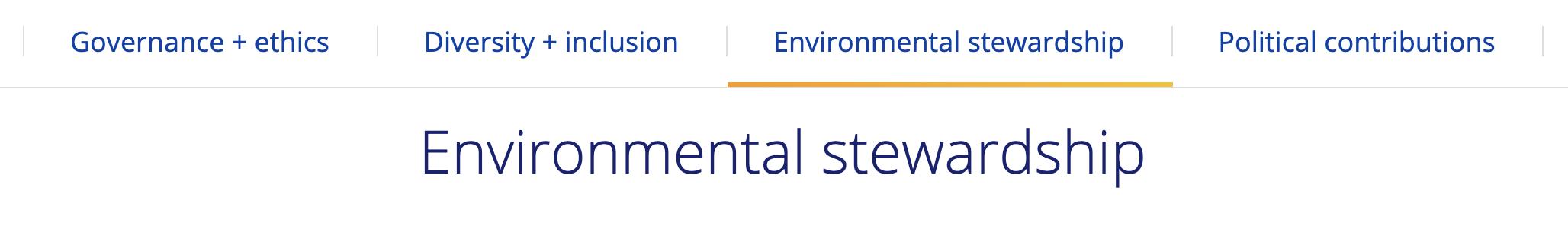 Visa environmental stewardship