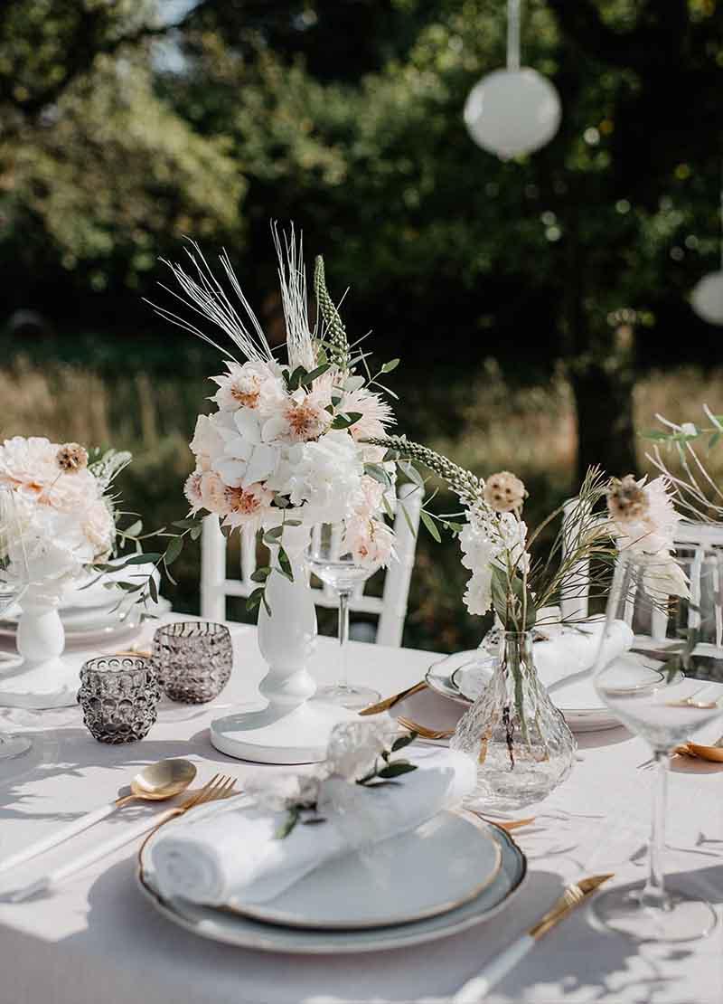Tisch Dekoration blush