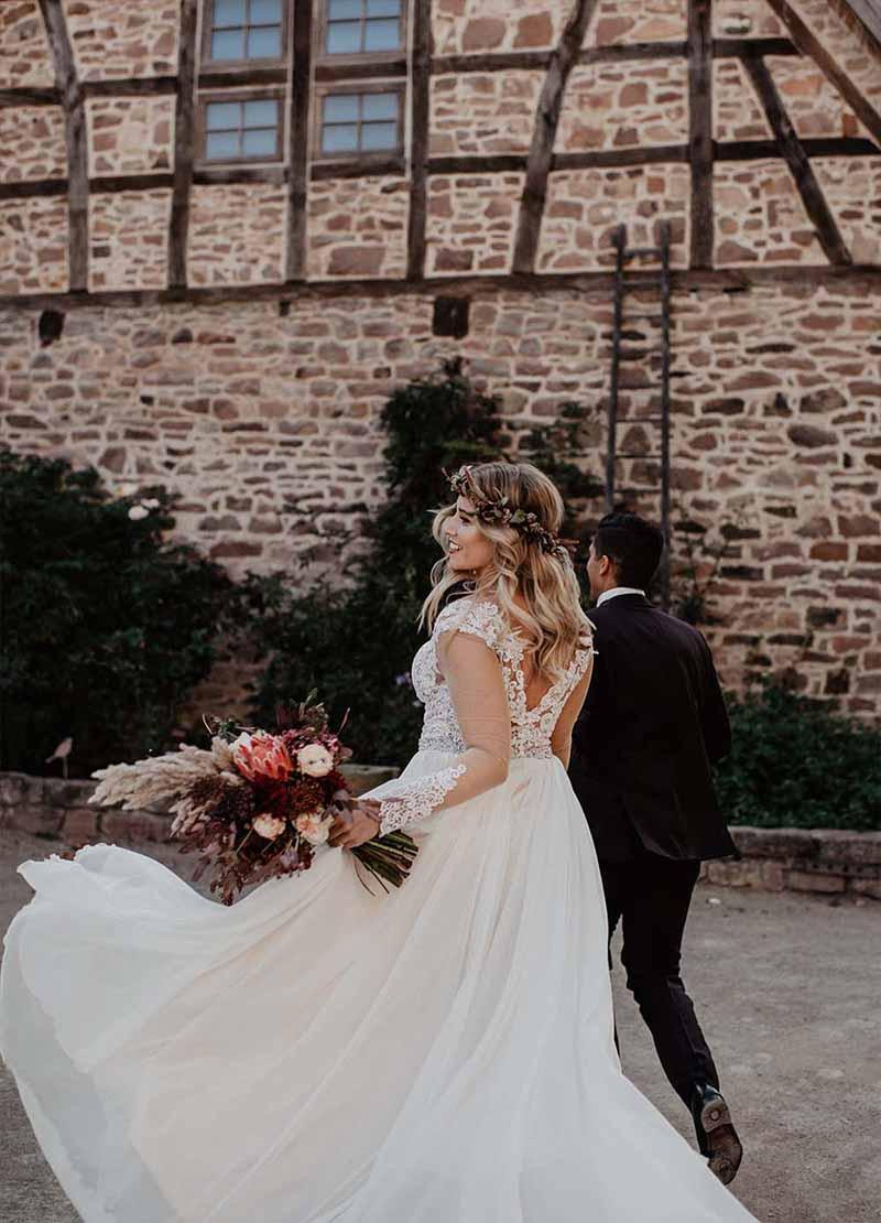 glückliches paar Hochzeit Bordeaux