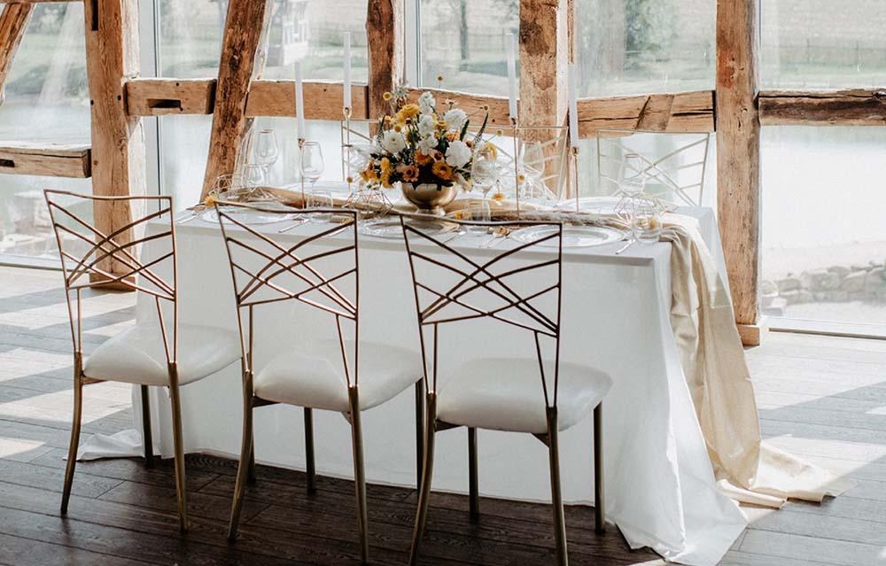 Hochzeit Dekoration Tisch Bordeaux