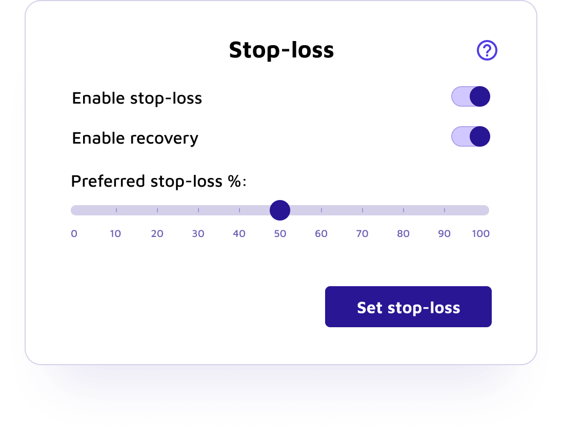 how to setup stop loss kraken