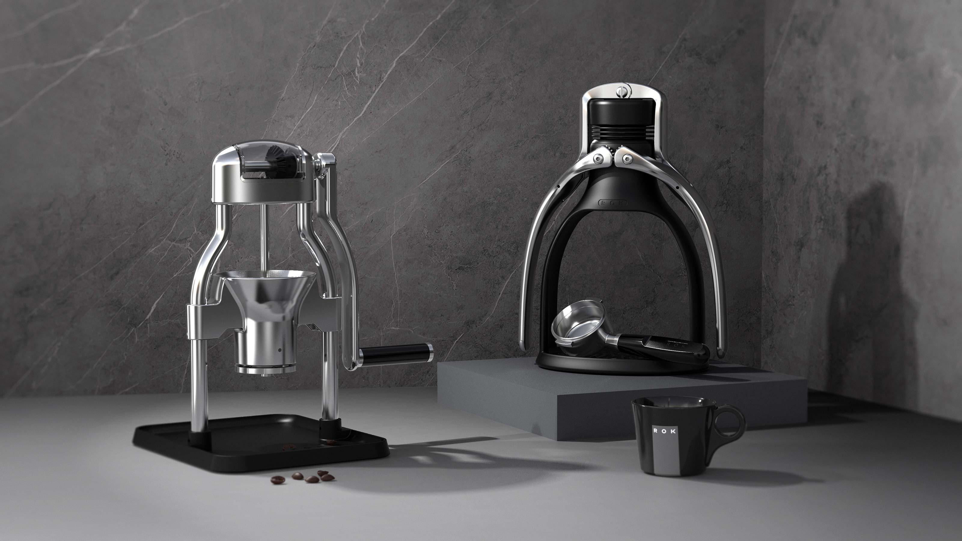 ROK Coffee nad Grinder
