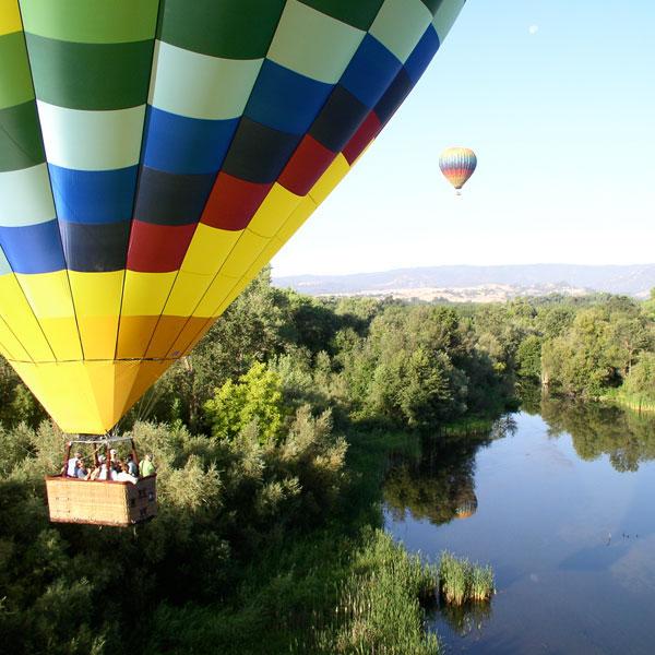 hot air balloon rides near Sacramento, California