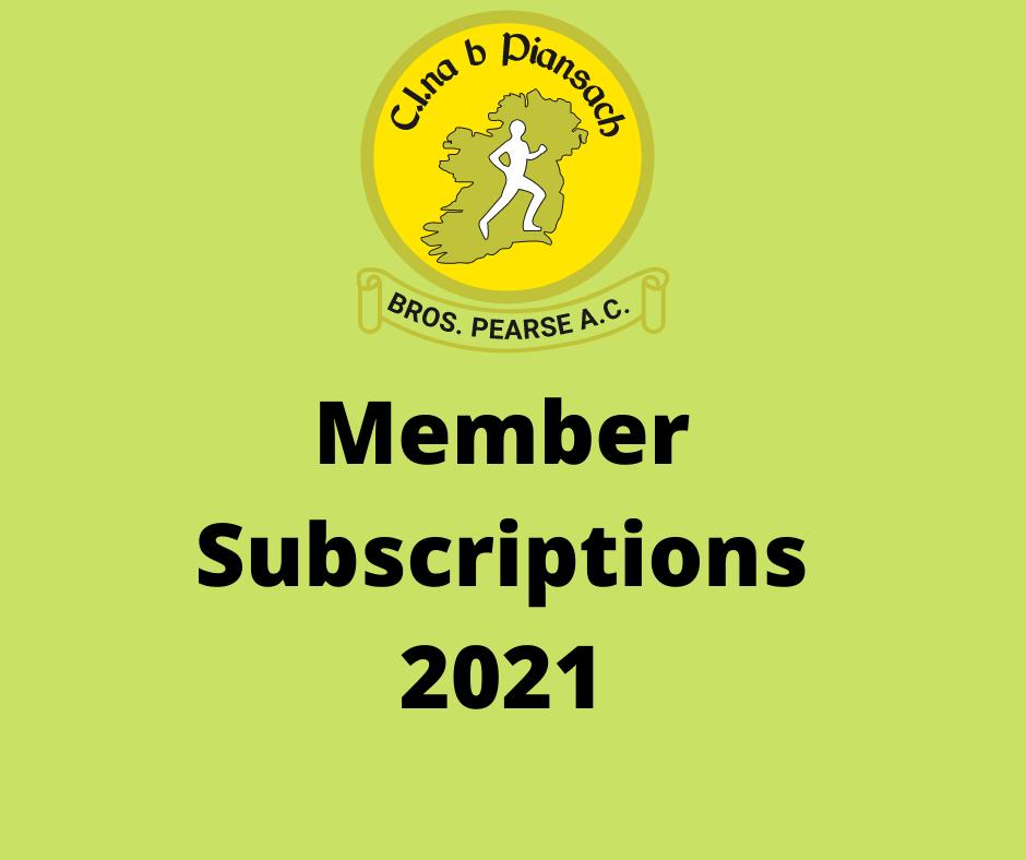 2021 Member Subscriptions