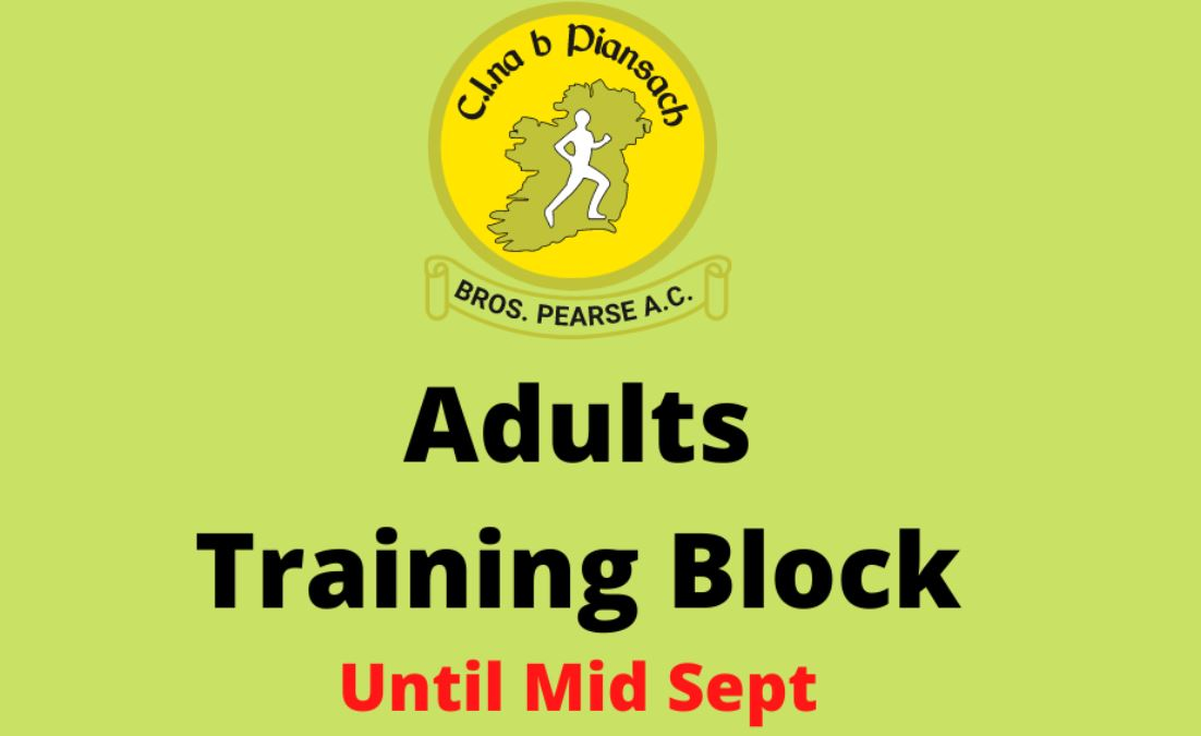Training Block to Sept 2021