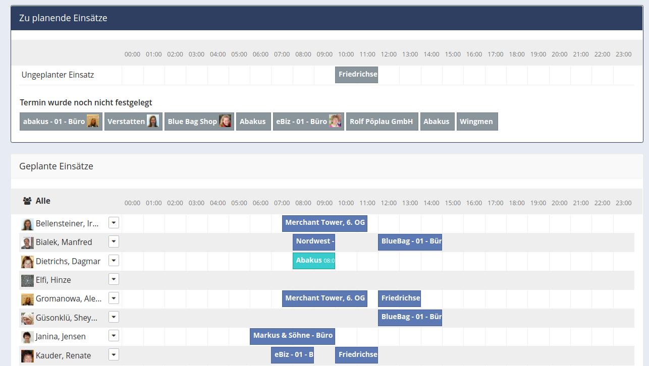 Einsatzplanung Screenshot