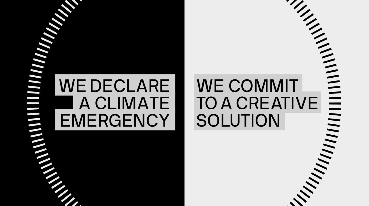 We declare a climate emergency. We commit to a creative solution.