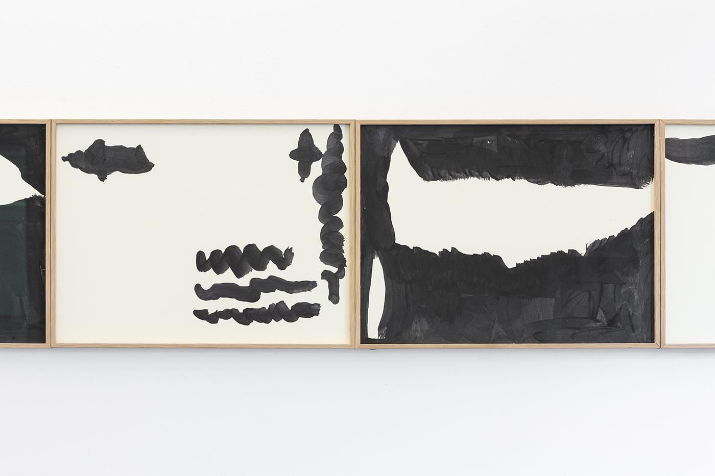 Mulholland Drive (Detail), 2019. Gouache on conservation museum cardboard. 31 x 44 cm
