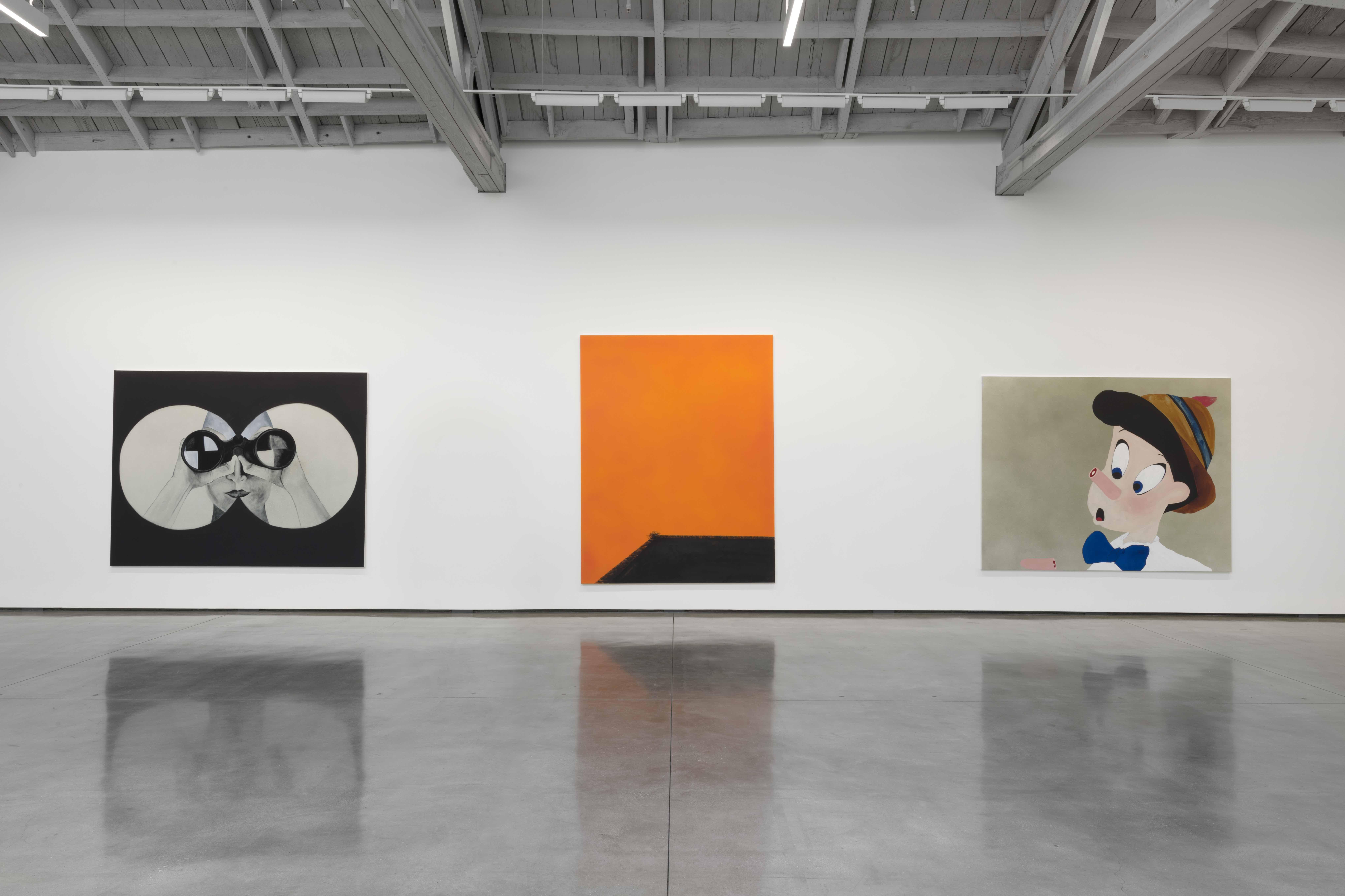 Calvin Marcus, GO HANG A SALAMI IM A LASAGNA HOG, David Kordansky Gallery, Los Angeles (November 1, 2019—January 11, 2020), Installation view, Photography: Jeff McLane