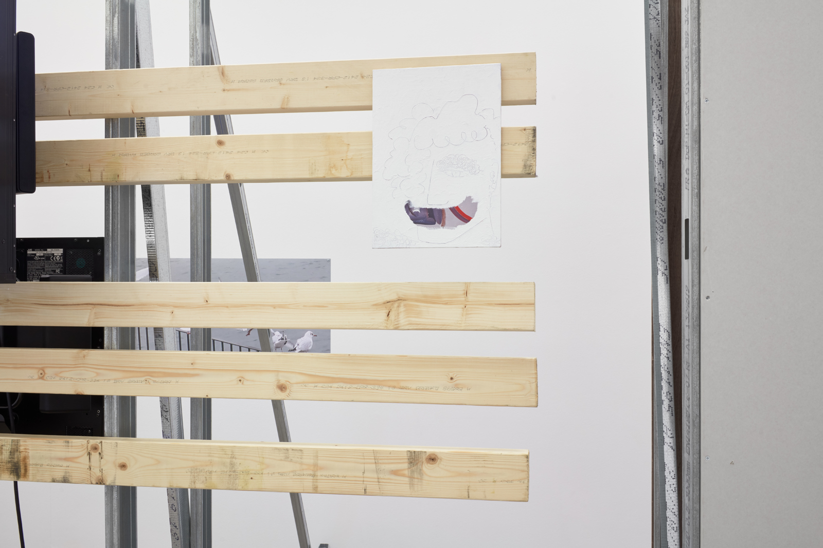Installation view, Hilary Lloyd, Car Park, Sadie Coles HQ, London, 21 November – 20 December 2019 | Image credit: © Hilary Lloyd, courtesy Sadie Coles HQ, London. Photography: Robert Glowacki