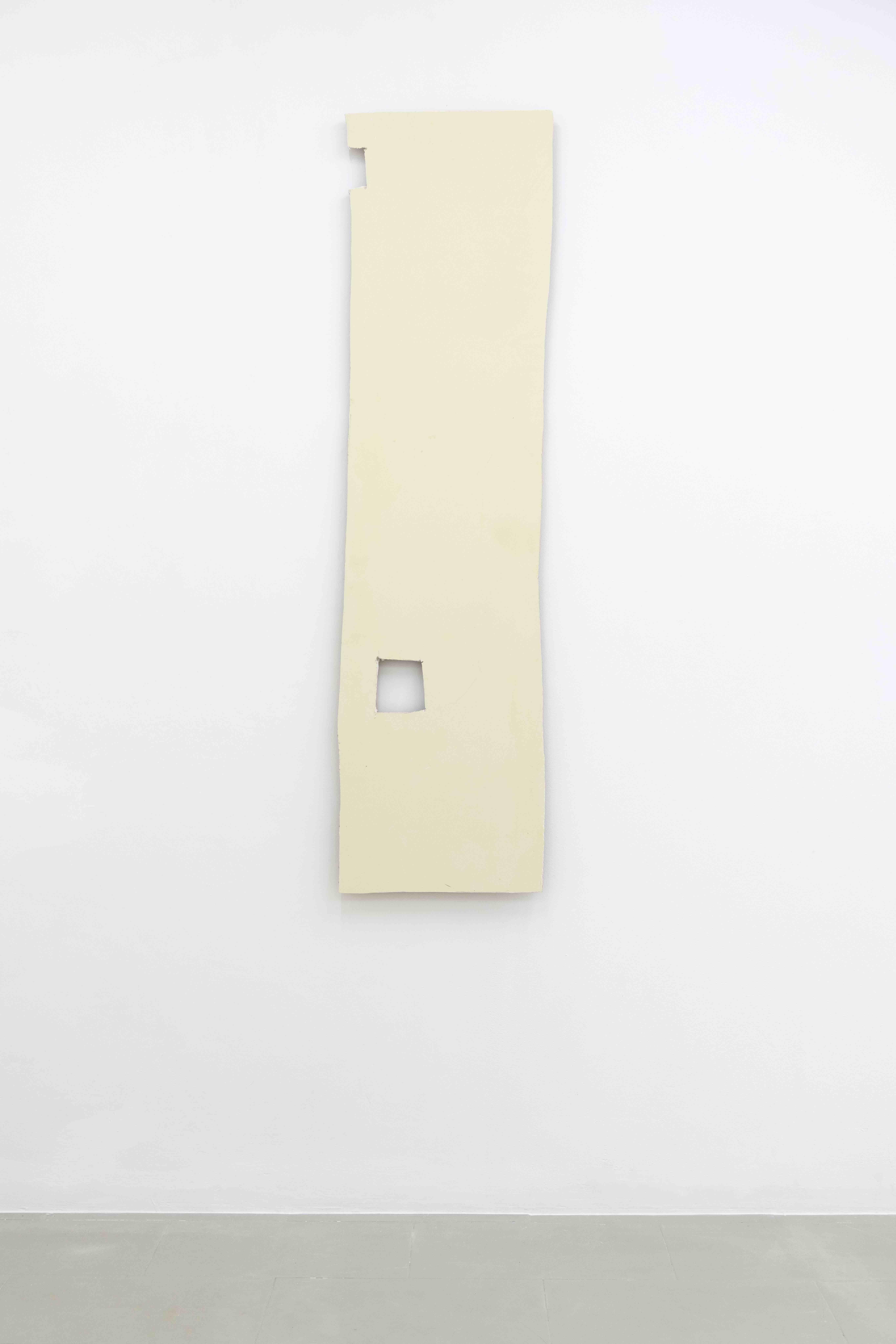 Plamen Dejanoff, Untitled (Palais Slav) 2019, Plasterboard wall, 190 x 51cm, Galerie Emanuel Layr Rome