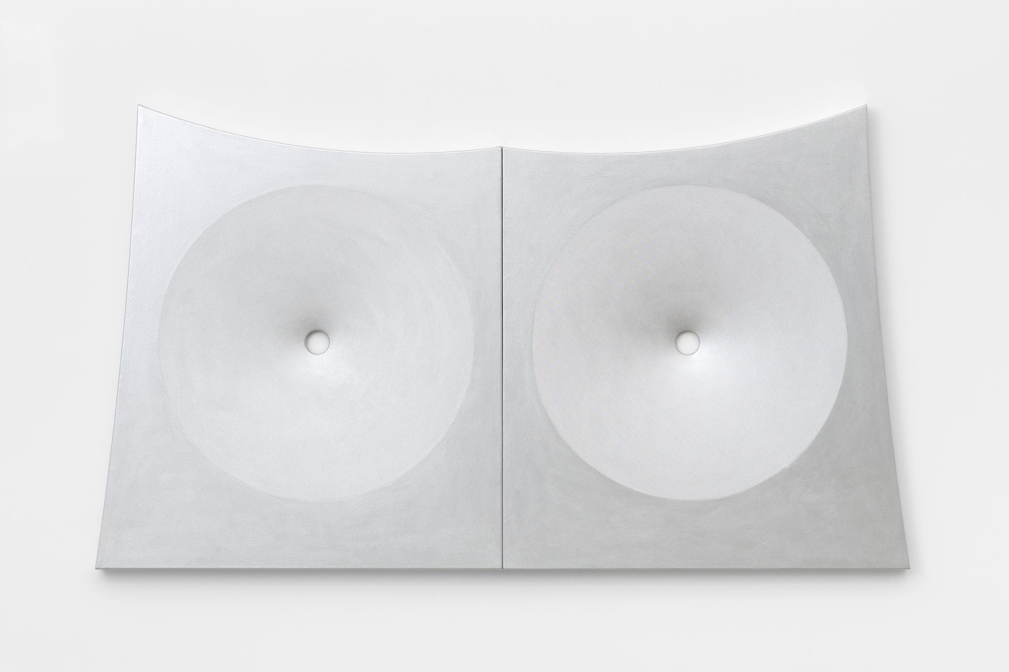 Blair Thurman, Alpine Stereo, 2019 Acrylic on canvas on wood, diptych 137 x 217 x 6 cm 54 x 94 1/8 x 2 3/8 in