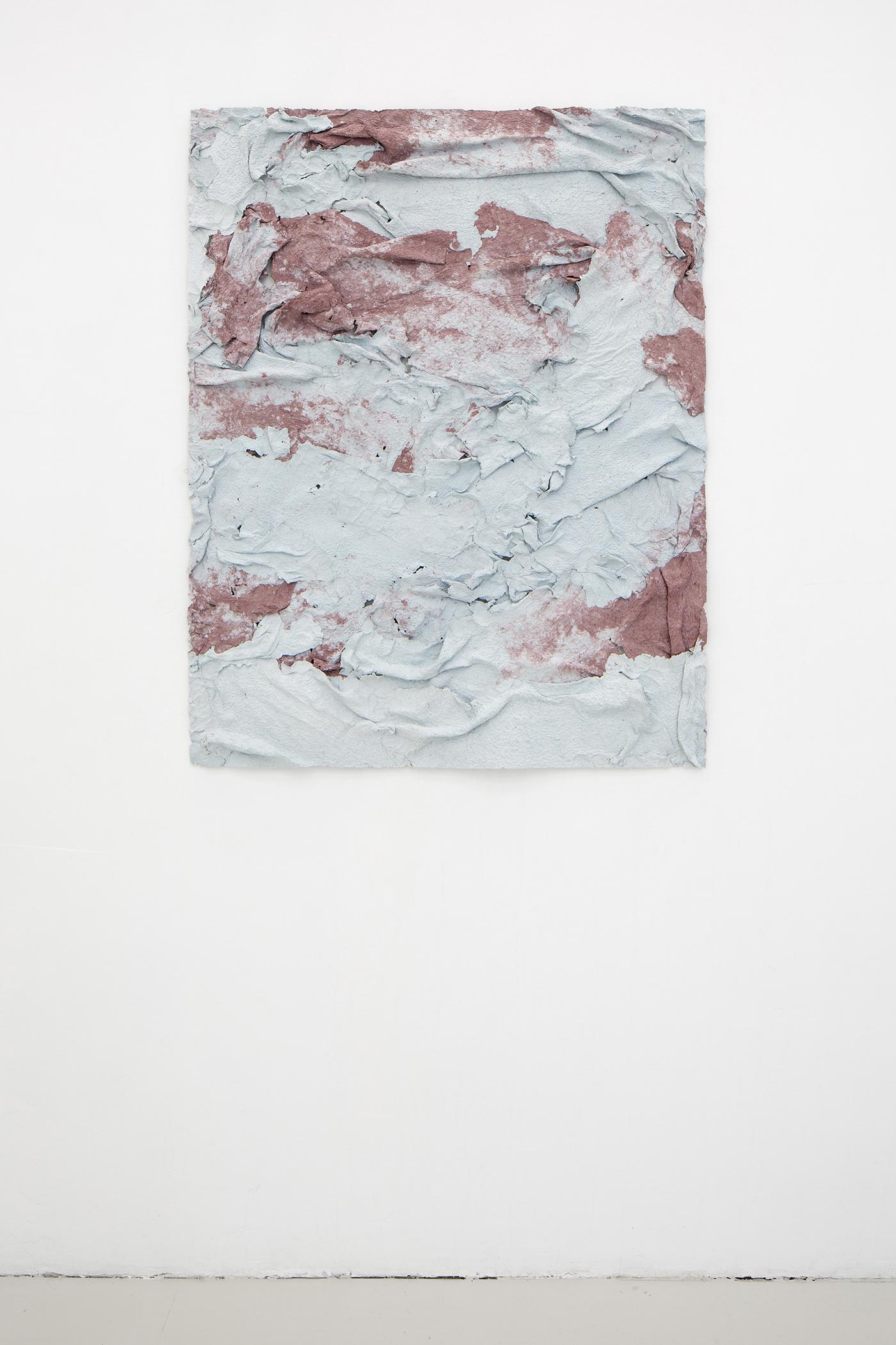 Fanny Hellgren, Dissolved, 2019 (Paper pulp and pigment, 94 x 73 cm)