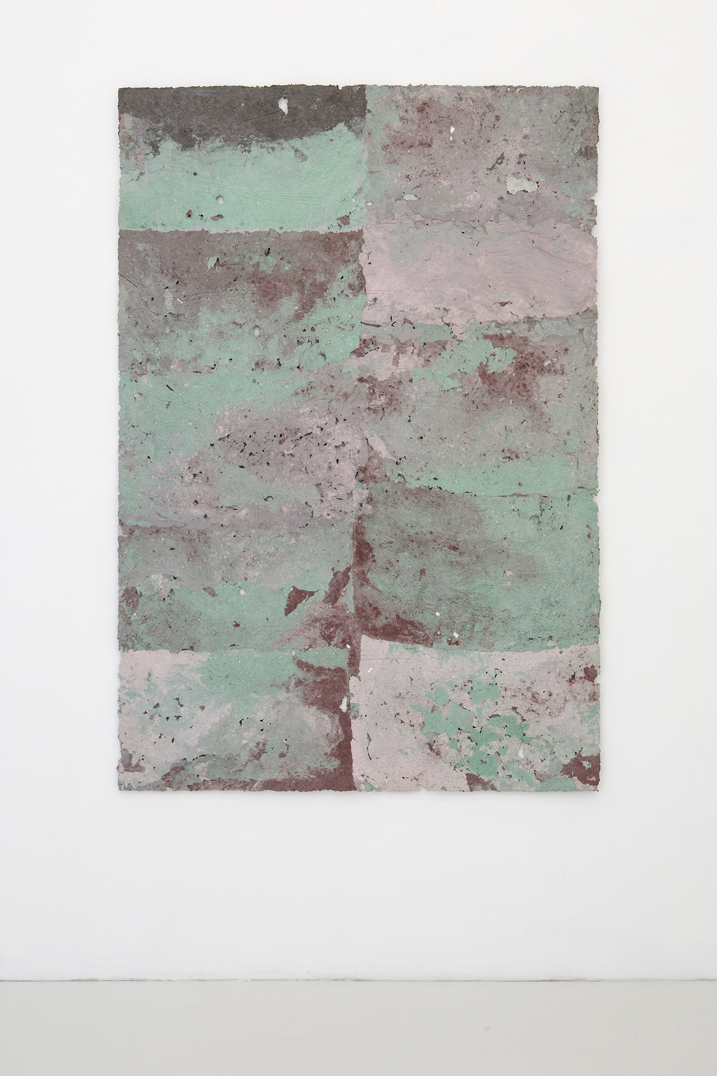 Fanny Hellgren, Faded, 2019 (Paper pulp and pigment, 168 x 114 cm)