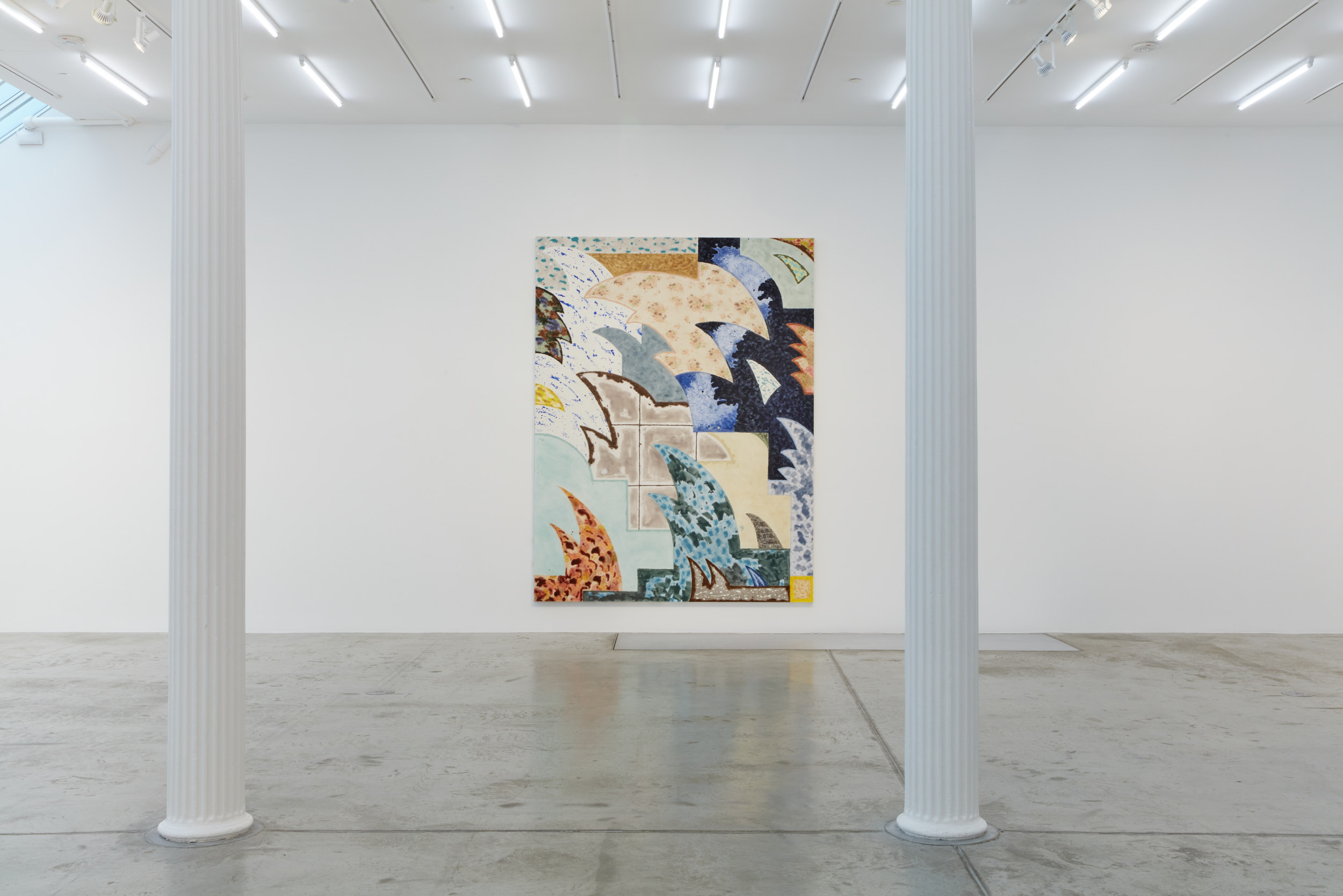 Rebecca Morris, 2020, installation view, Bortolami, New York. Images courtesy the artist and Bortolami, New York. Photography by Kristian Laudrup.