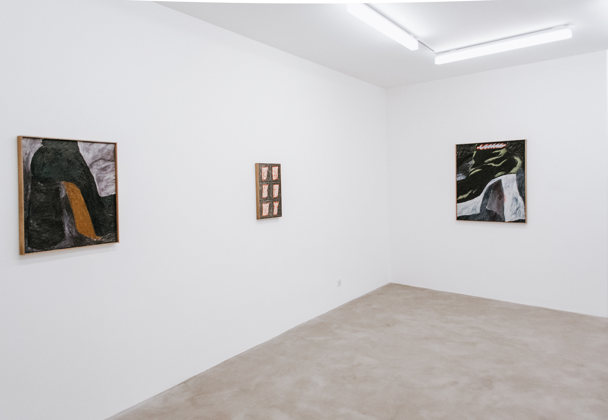 Exhibition view of The nearer the ground, the louder it sounds, Stevie Dix, 2020 © GALERIE CHLOE SALGADO and Stevie Dix