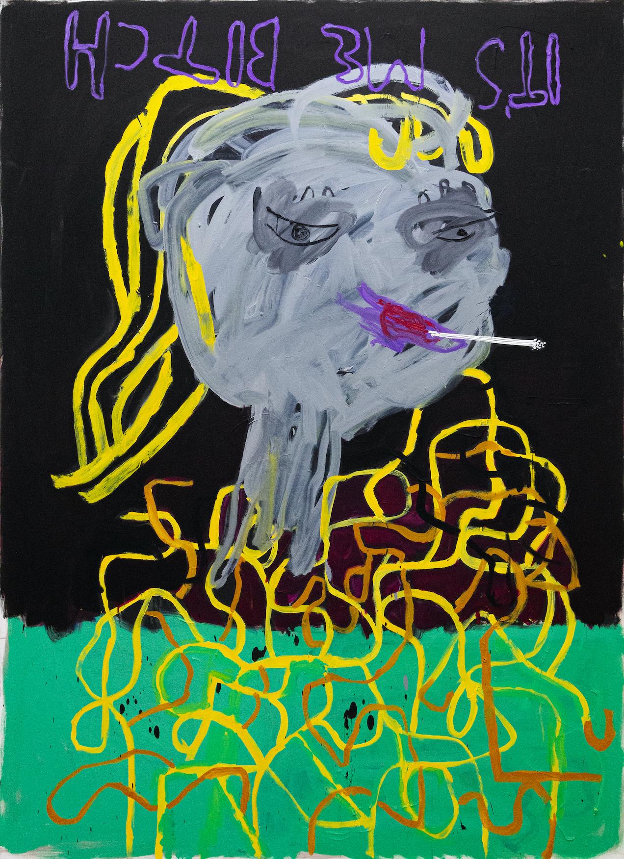 Boban Andjelkovic, Untitled (I paint for Dora), 2020, oil on canvas, 220 x 160 cm, BA/M 25