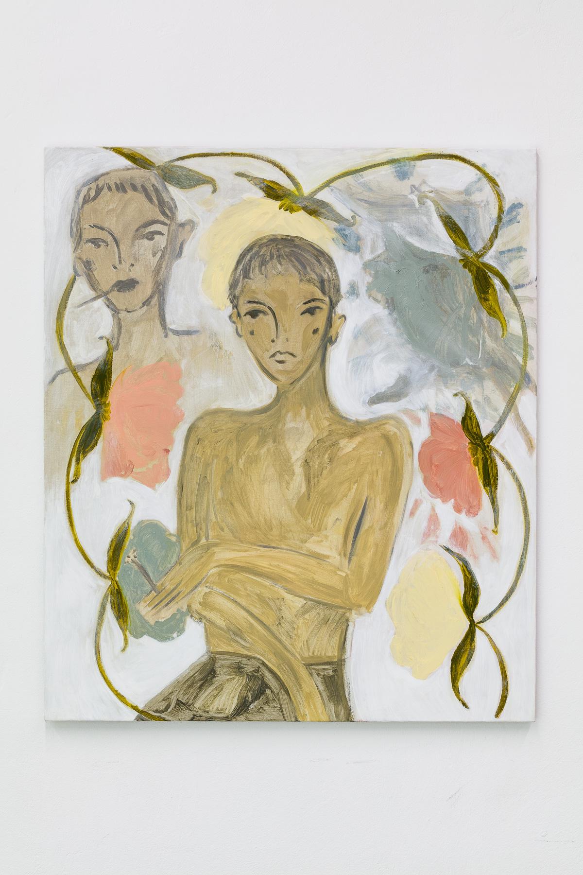 Sonnet for A Winter Flower, 2020 Oil on linen 107 x 91 cm 42 1/8 x 35 7/8 in