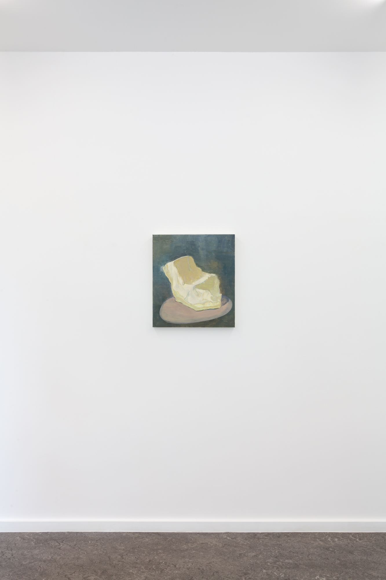 Guy Van Bossche, Chair Hidden by an Inflatable Object, 2020 Oil on canvas 53,7 x 47,8 cm, Photo by Pieter Huybrechts.