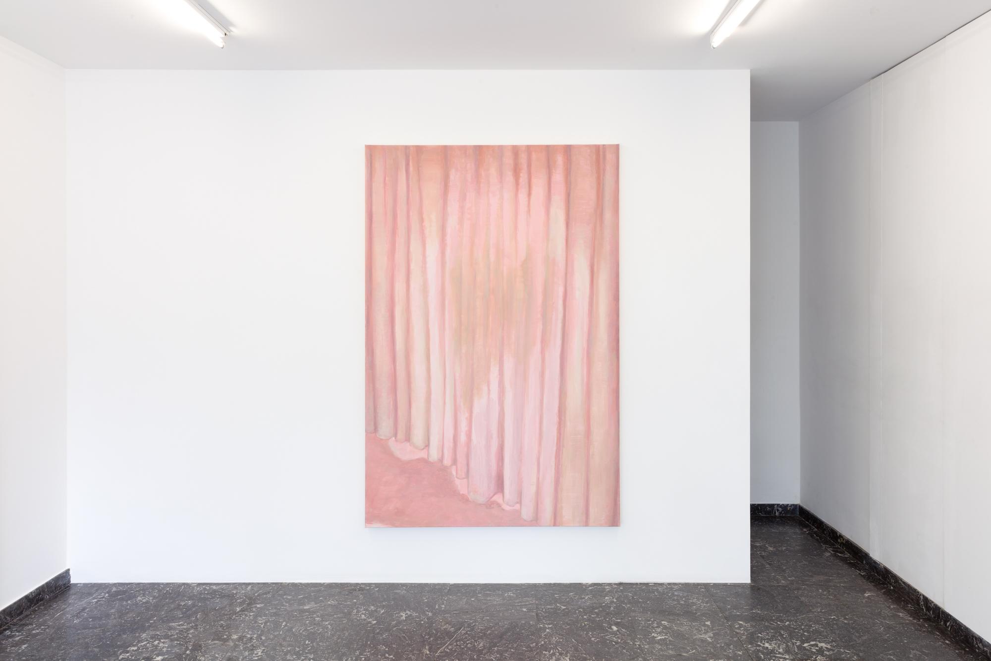 Guy Van Bossche, Gordijn, 2019-2020 Oil on canvas 180 x 119,7 cm, Photo by Pieter Huybrechts.