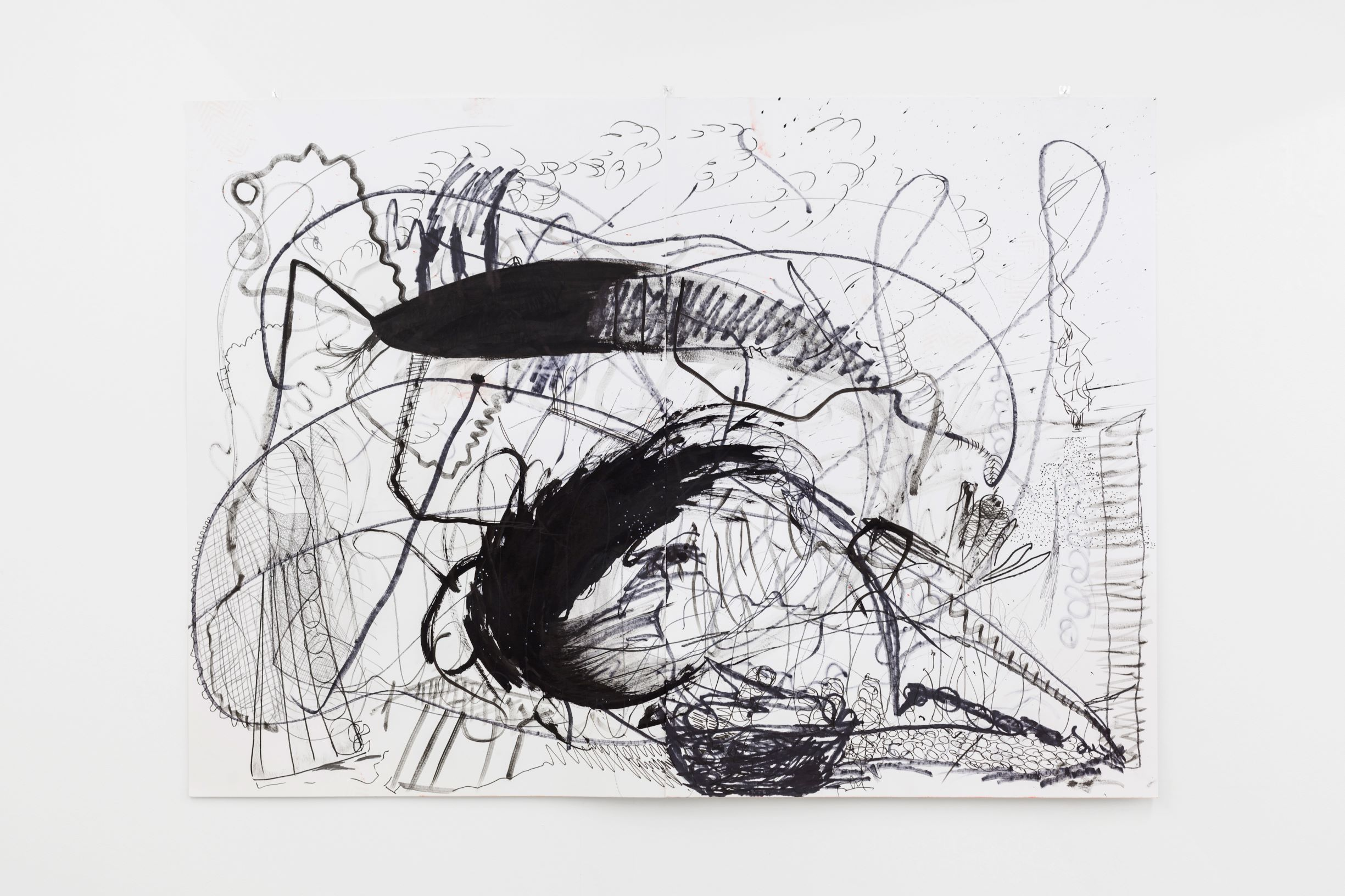SCRIPTS, Linda Semadeni, Kirchgasse ©Björn Allemann, untitled, 2019, Ink, marker, pencil on paper, 100 x 140cm.