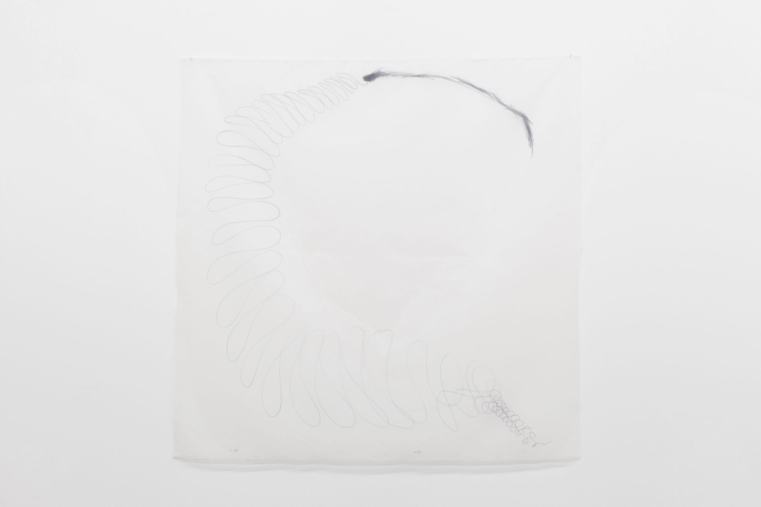 SCRIPTS, Linda Semadeni, Kirchgasse ©Björn Allemann, untitled, 2020, Marker on fabric, 100 x 110 cm.