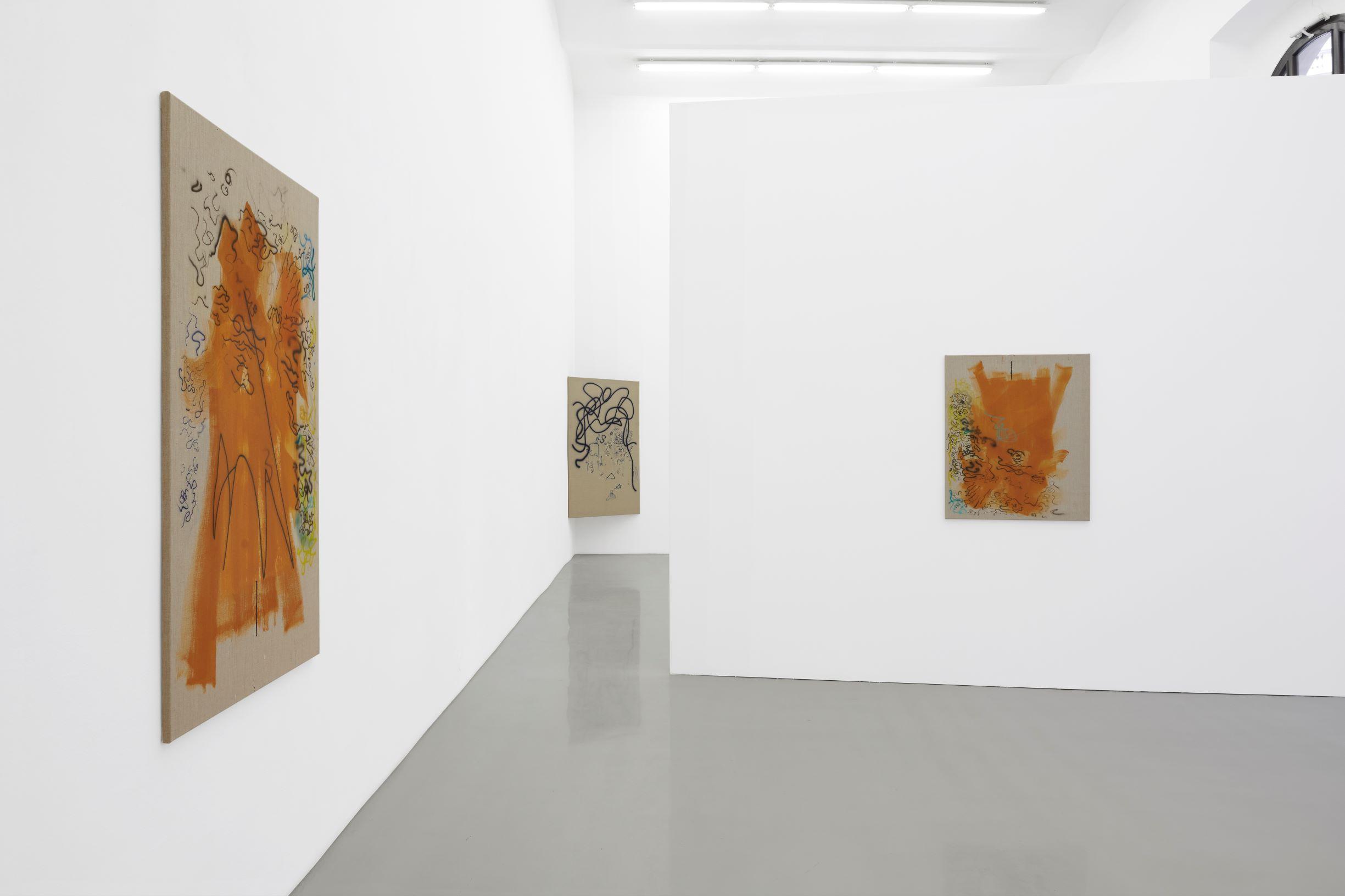 Julia Haller, Knights, Installation view images by Marcel Koehler, Galerie Meyek Kainer, 2020