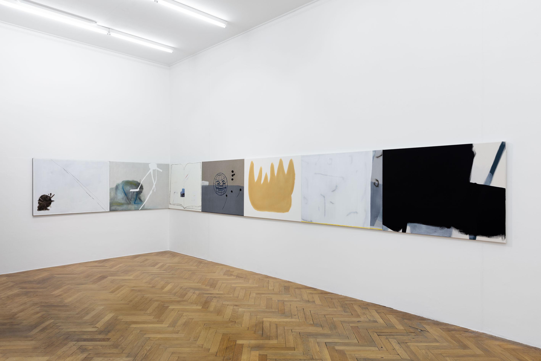 "Exhibition View: Malte Zenses, ""Im Regio 3, totale Verwirrung"", 2020"