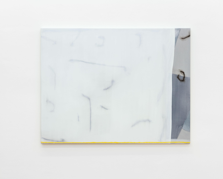 Malte Zenses schnelle Zeichnung von einer schönen Hausfassade (Prenzlauer Berg), 2020 Lack und Öl auf Leinwand 100 x 130 cm MZ/M 20