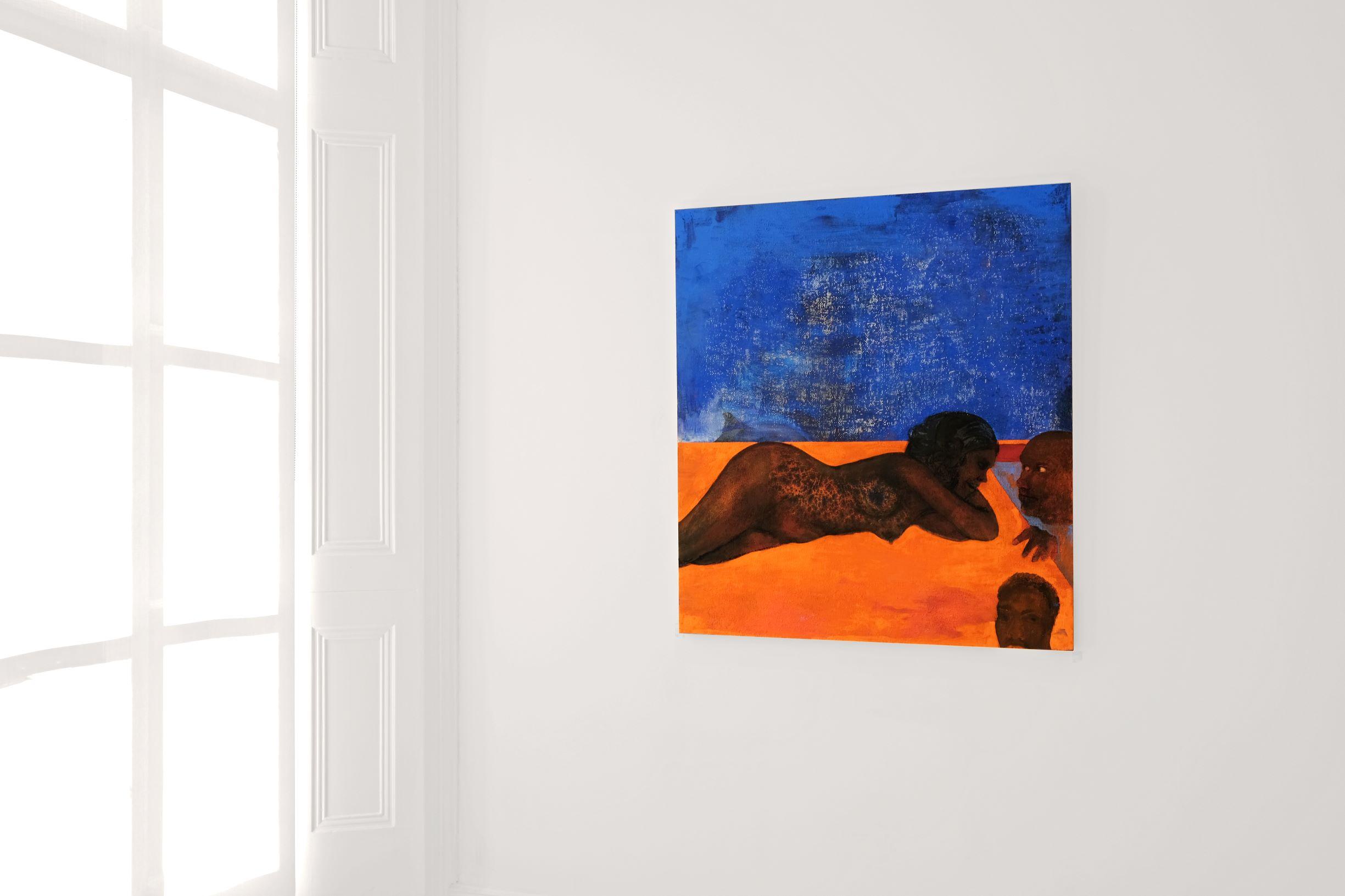 Stanislava Kovalcikova, Cautionary Tales, In Pool 2020 Oil on linen 109×99 cm, courtesy of MAMOTH