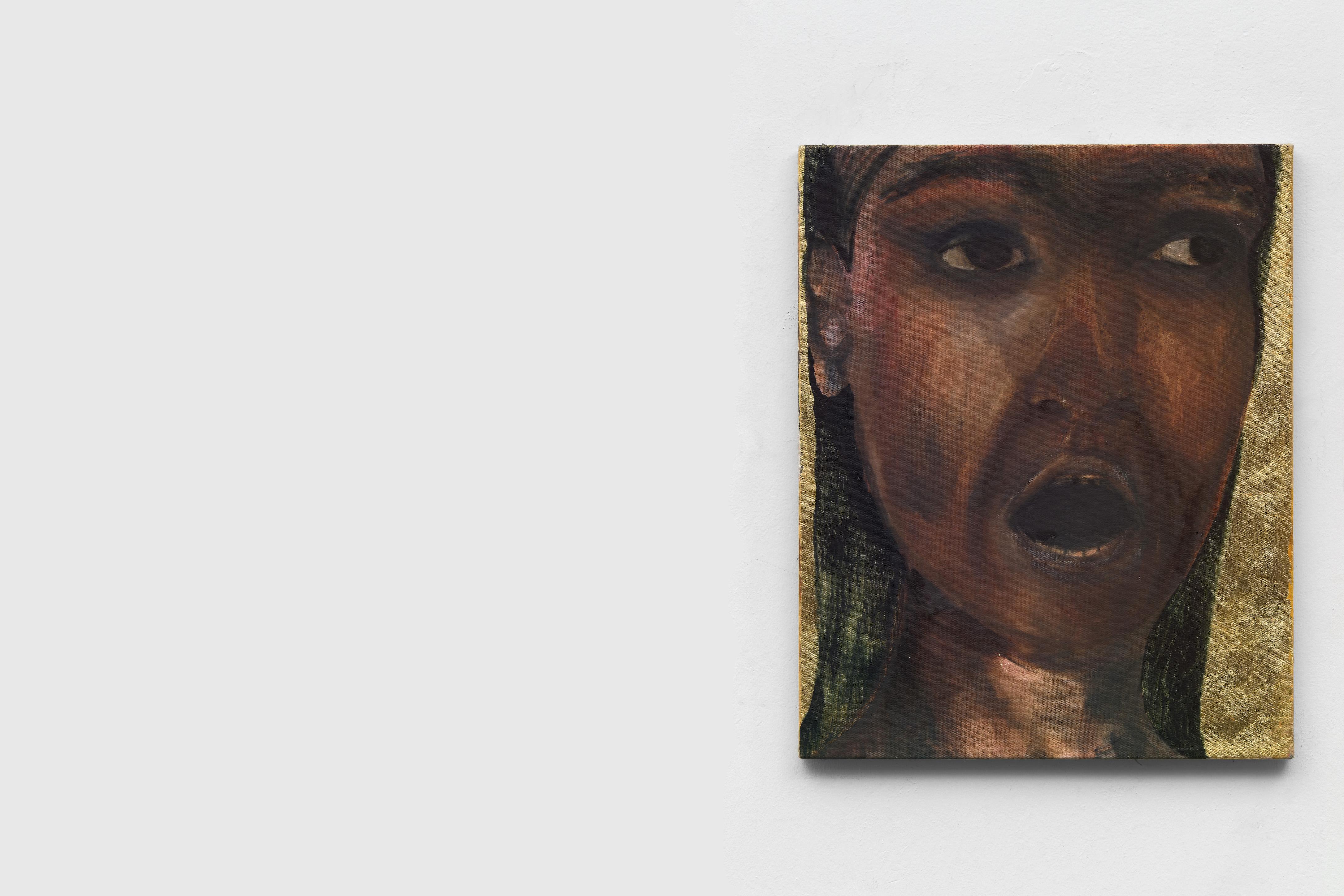 Stanislava Kovalcikova, Cautionary Tales, Golden portrait 2016 Oil on linen 66 x 52 cm, courtesy of MAMOTH