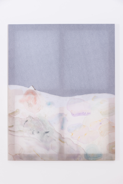 Fay Shin, 'Waltz for Quartz 2', 2019, Man suit, silk, watercolor, gouache, silk thread 116.5X91cm, Courtesy of GALLERY SU: and the artist