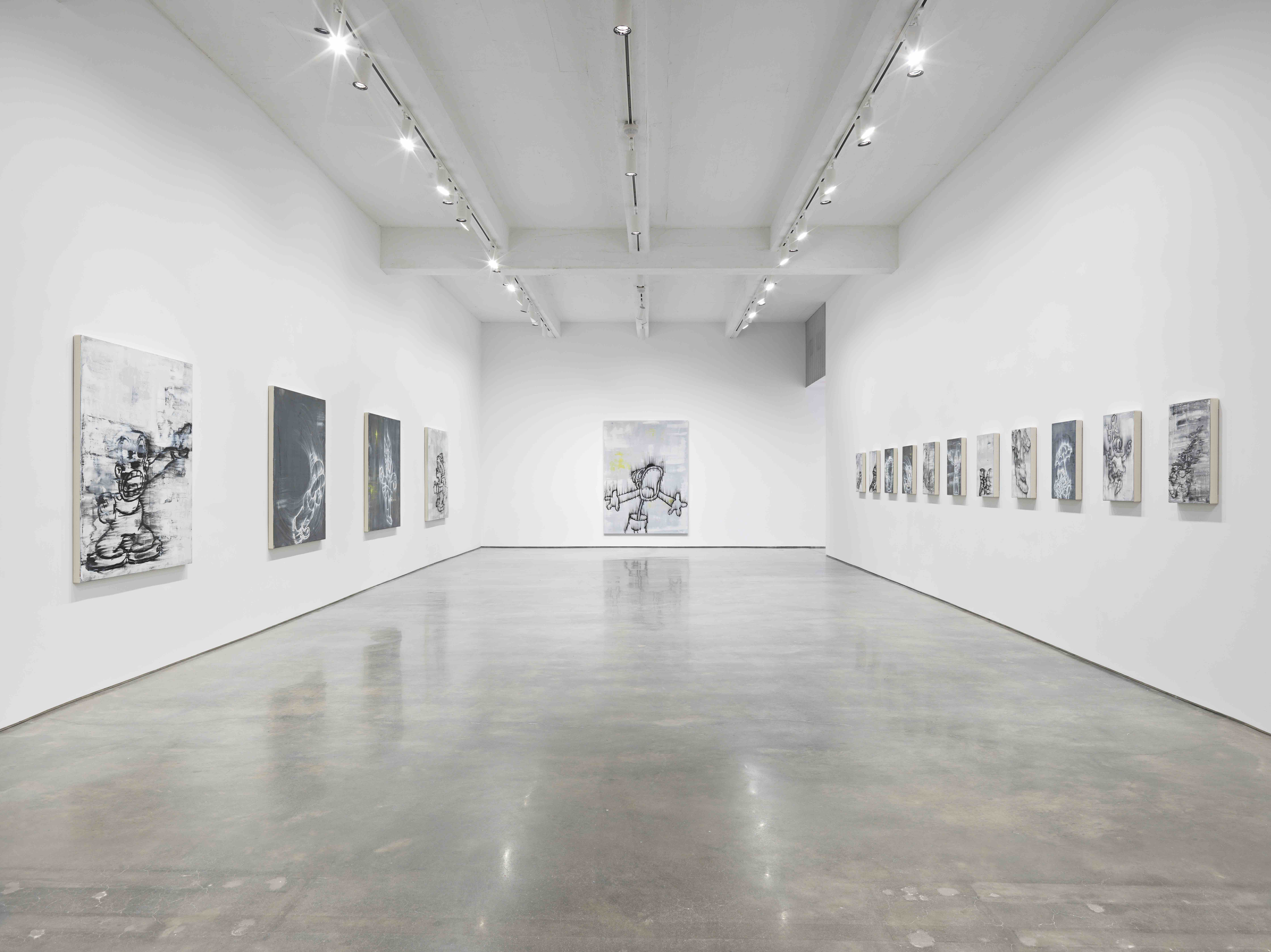 Gary Simmons, Screaming into the Ether. Installation view, 2020. Metro Pictures, New York. Courtesy of the artist and Metro Pictures, New York