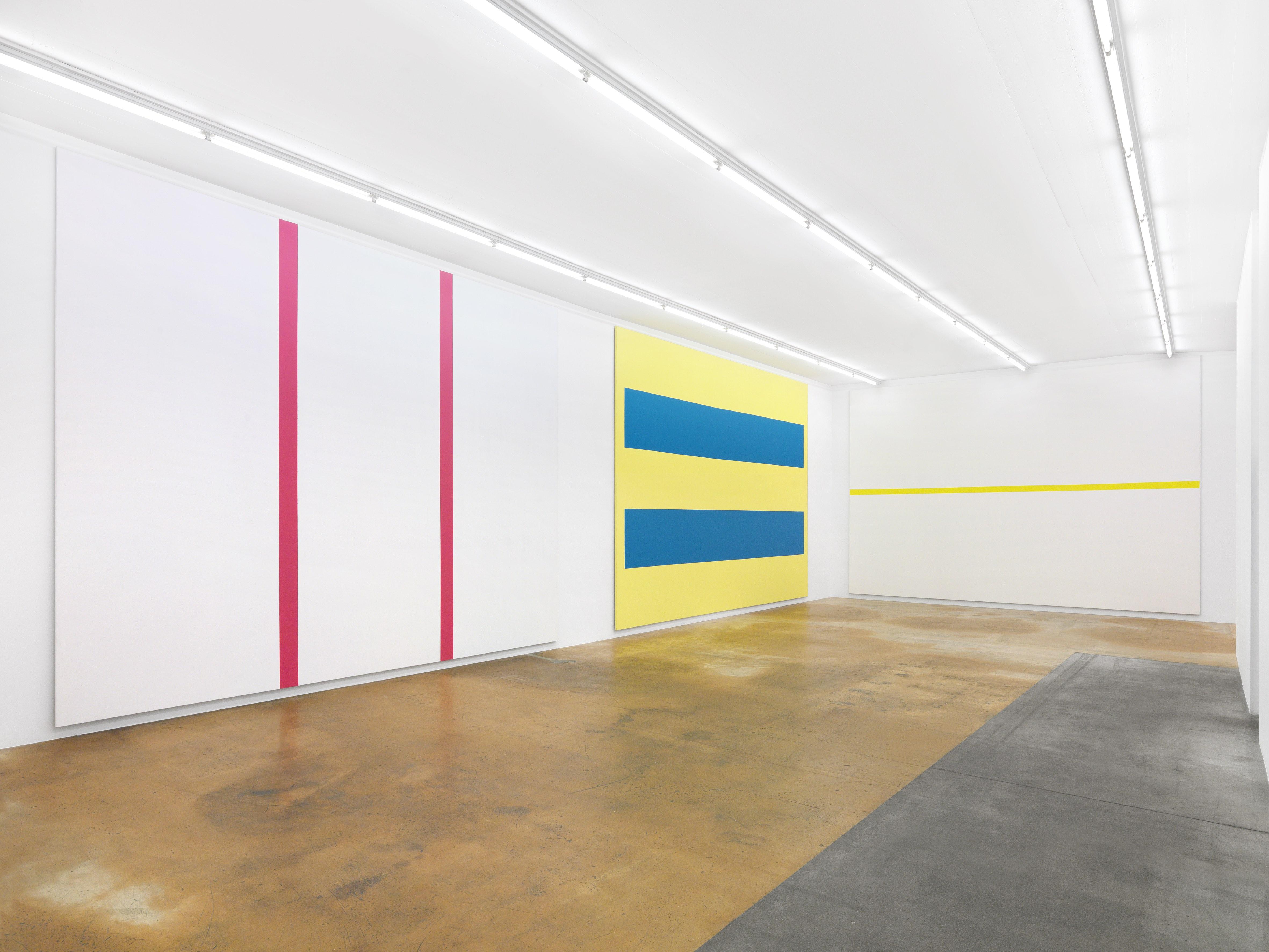 Installation view: Olivier Mosset at MAMCO Geneva / Photo credits: Annik Wetter–MAMCO Geneva